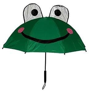 Kids Frog Umbrella with easy grip handle