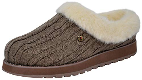 Skechers BOBS from Women's Keepsakes Ice Angel Slipper, Taupe/Natural, 10 M US
