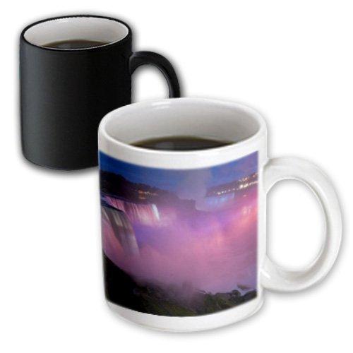 3dRose mug_93048_3 New York, Niagara Falls Mist with Pink Light Us33 Bja0032 Jaynes Gallery Magic Transforming Mug, - Niagara New York Outlet Falls