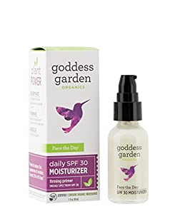 Goddess Garden Organics Face The Day Sunscreen and Firming Primer, 1 Ounce