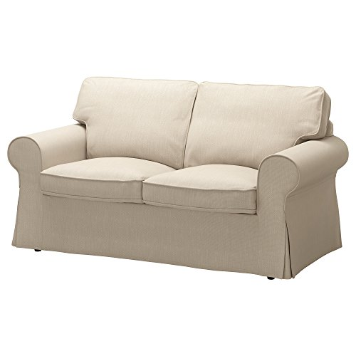 IKEA Original Ektorp Cover Loveseat, (2-Seat Sofa) (Cover Only (Nordvalla Dark Beige) ()