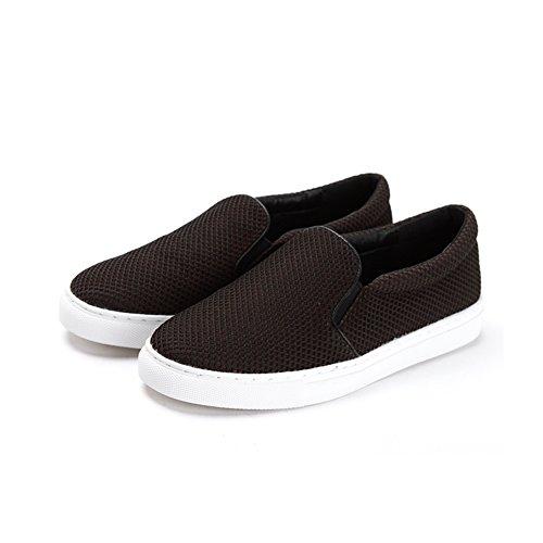 Un calzado de malla transpirable de resorte pedal/Zapatos de mujer casual Negro
