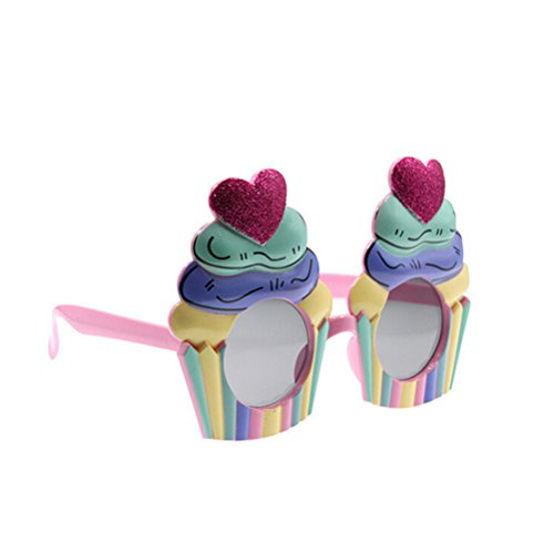 OULII Ice Cream Cake Sunglasses Costume Glasses Props Funny Novelty Party Favors -