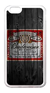 iPhone 6 Plus Case Cover - Wood Unique Design Wood Budweiser TPU Rubber Bumper Case for iPhone 6 Plus 5.5 Inch Translucent