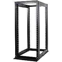 27U 4 Post Open Frame Server Rack Enclosure 19 Adjustable Depth