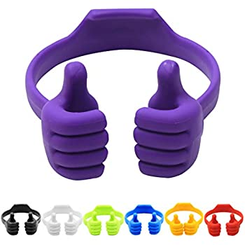 7Pack Thumbs-up Cell Phone Stand, Honsky Universal Flexible Multi-angle Cute Desk Desktop Phone Holder, Compatible with iPhone iPad Samsung Android Switch ...