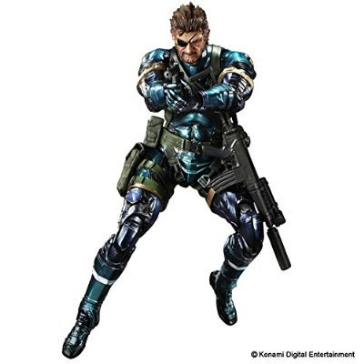 Metal Gear Solid V Ground Zeroes Play Arts Kai Snake Metallic Ver. (Solid Snake Square Enix)