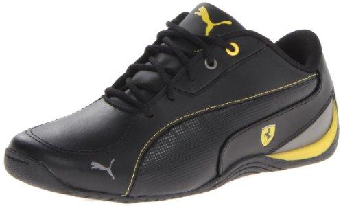 PUMA Drift Cat 5 L Ferrari JR Sneaker (Little Kid/Big Kid),Black/Black/Vibrant Yellow,6.5 M US Big Kid ()