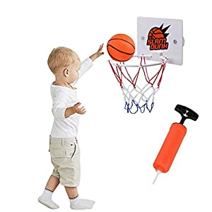 per Kids Mini Basketball Toy Set with Portable Basketball Hoop &Pump Indoor Outdoor Sports Kit for Toddlers