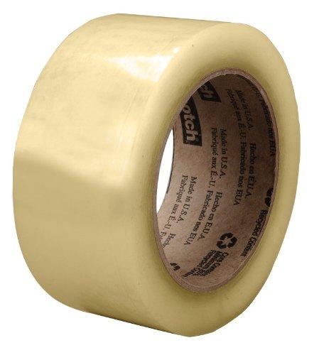 Scotch Recycled Corrugate Tape 3073 Clear, 48 mm x 100 m (Case of 36) by Scotch B009PPF8XA