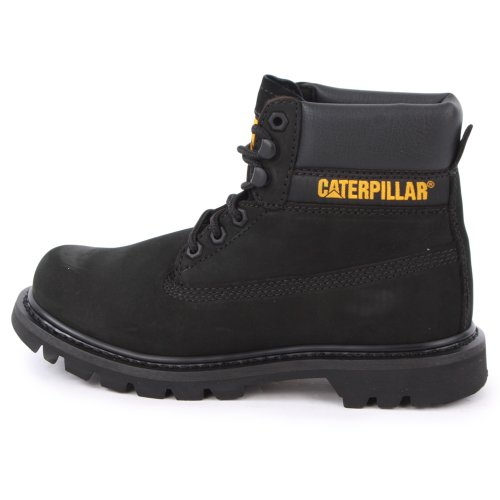 Caterpillar Black Leather Womens Laced Boots 3 Colorado rpwn1Z4qr