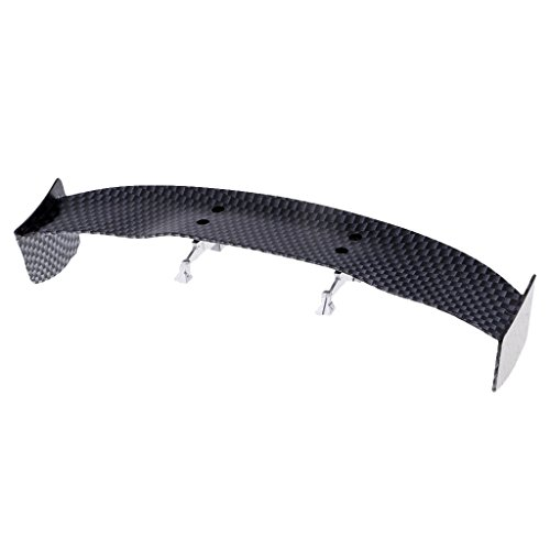 Homyl 1/10 RC Car On Road Drift Touring DIY Carbon Fibre Effect Spoiler / Wing Set B ()
