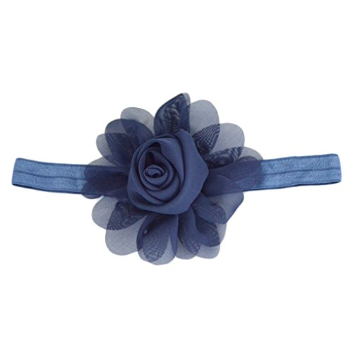 1b401460c00 Jual Chiffon Rose Frill Flower Baby Girls Headband Hair Accessories ...