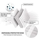 50 Pcs Disposable Face Cover 3-Ply Filter Non