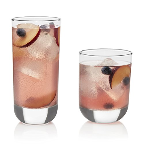 Libbey Polaris 16-piece Tumbler Glasses Set (Perfectly Round Glass)