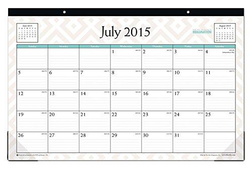 July 2015 - June 2016 Contempo Monthly Desk Pad Calendar 17x11