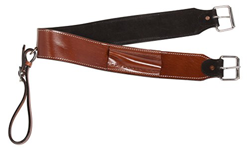 AceRugs Premium Smooth Leather Walnut Western Cowhide Horse Saddle Back CINCHES Bucking Strap Rear GIRTHS Back Cinch Buckle (Horse)