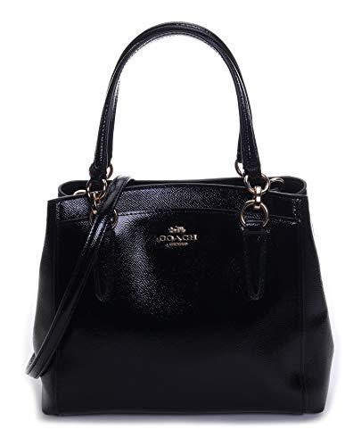 Coach Women's Patent Crossgrain Minetta Crossbody Bag No Size (Im/Black)