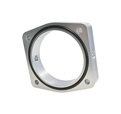 Torque Solution Throttle Body Spacer (Silver): Fits Nissan / Infiniti VQ35DE Engine (Vq35de Engine)