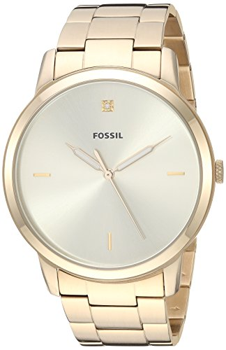 Fossil Men's The Minimalist 3H - FS5457 Gold One Size
