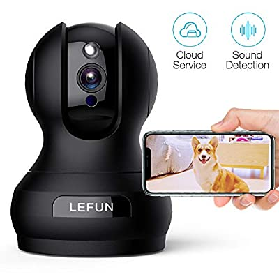 Pet Camera, Lefun 1080P Wireless Security Camera with Sound Detect Motion Tracking Two Way Audio Updated Cloud IP Surveillance Camera Supports 2.4G WiFi Remote View for Home Baby Dog Monitor
