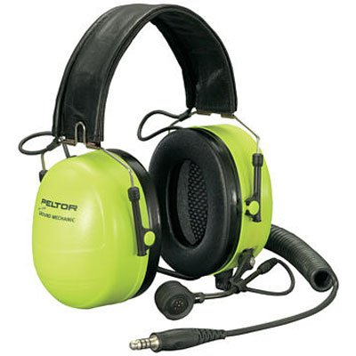 3M Peltor Ground Mechanic Communications Headset MT7H79F-01 GB with Neon Cups