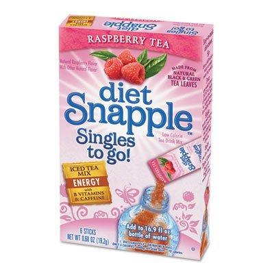 (Snapple Iced Tea Singles To-Go, Diet Raspberry Tea, 0.68 Ounce Sticks, (1 Box) 6 Sticks per Box)