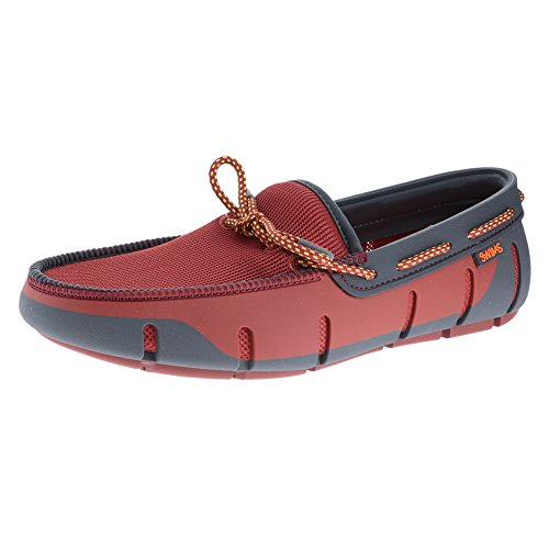 For Red Lace Summer Pool Loafer Gray SWIMS Men's Stride and Lacquer Dark waqA8I8