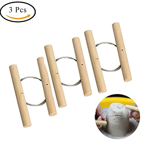 Wire Clay Tools - Ioffersuper 3 Pcs Wire Clay Cutter Cheese Plasticine Dough Cutting Pottery Tools