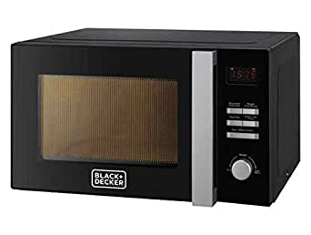 Black+Decker 28L Combination Microwave Oven with Grill, Black - MZ2800PG-B5