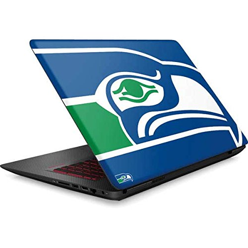 Skinit NFL Seattle Seahawks Omen 15in Skin - Seattle Seahawks Retro Logo Design - Ultra Thin, Lightweight Vinyl Decal Protection by Skinit
