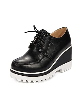 Toughees Shoes Janine T Bar Brogue, Zapatos Brogue, Niñas, Negro (Black), 38.5