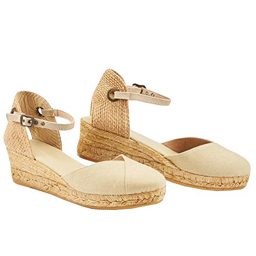 Womens Wedges Strap Espadrilles Sandal Closed Toe Ankle Buckle Platform Heel Slingback - Slingback Buckle