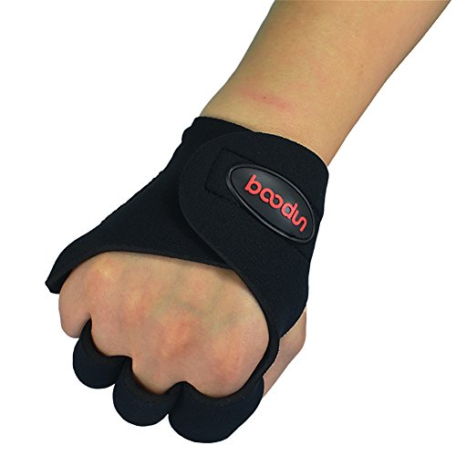 Price comparison product image millet16zjh Outdoor Fitness Anti-Slip Half Finger Wrist Wrap Sports Weight Lifting Gloves Black M