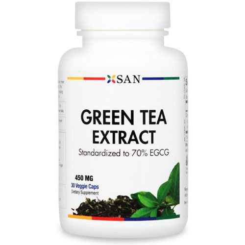 GREEN TEA EXTRACT 450 mg . Highest Possible EGCG (70%). Decaffeinated | 30 Veggie Caps.Made in the USA (1 Pack)