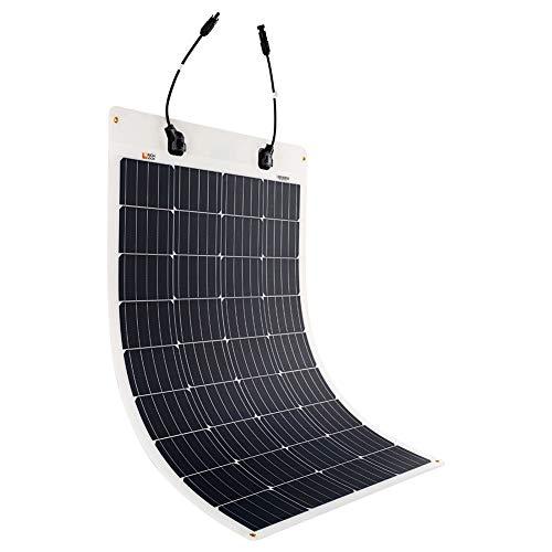 Richsolar 100 Watt 12 Volt Extremely ETFE Flexible Monocrystalline Solar Panel Ultra Lightweight
