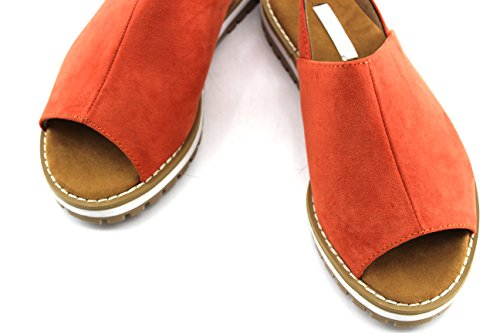 Modelisa - Sandalias Cerradas Mujer Teja