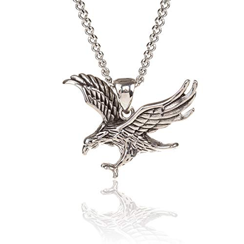 - GL Creations Stingray Men's Stainless Steel Small Eagle Pendant on 20