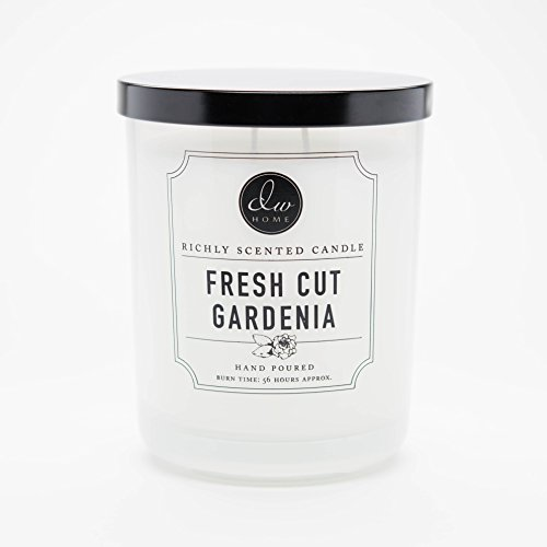 DW Home Large Double Wick Candle, Fresh Cut (Fresh Gardenia)