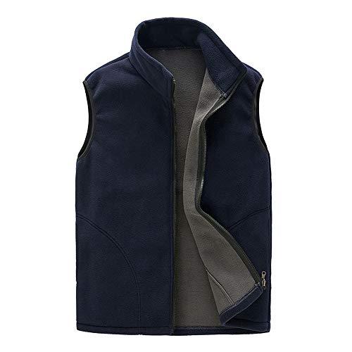 Zipper Waistcoats Men,Simayixx Casual Autumn Winter Warm Broadcloth Vest Lightweight Sleeveless Blouse Tops