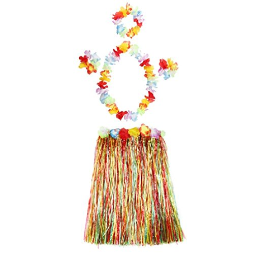 Hawaiian Grass Skirt Party Decorations Supplies Dress Children Adult Hula Show Grass Beach Dance Activity Skirt Colorful