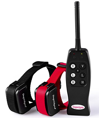 Dogwidgets DW-1 Rechargeable Electronic E Collar Safe Pet Dog Training Collars for 2 Dogs with Remote with Individual Vibration for Each Dog Small, Medium and Large Dog Shock Collars for Two Dogs