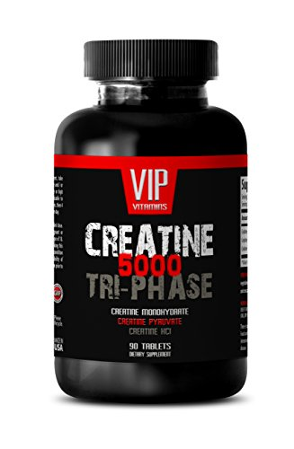 Foods Creatine Monohydrate Tabs - Muscle gain for Women - Creatine TRI-Phase 5000 - Creatine Pills - 1 Bottle (90 Tablets)