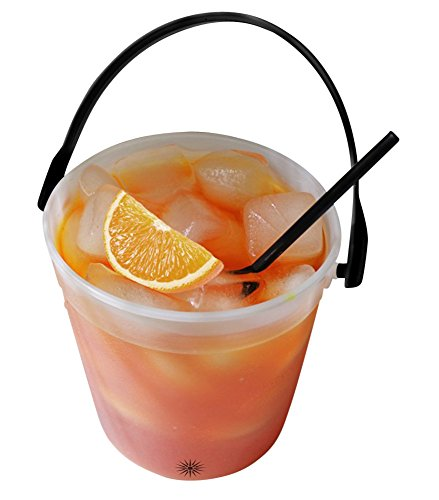 Bucket O Booze | 32 Ounce Drink Bucket | (Pack Of 5) | Mixed Drinks Bucket | Beverage Pail | Alcohol Container | Great For Parties | Holidays | Weddings (Simple Halloween Drinks Alcohol)