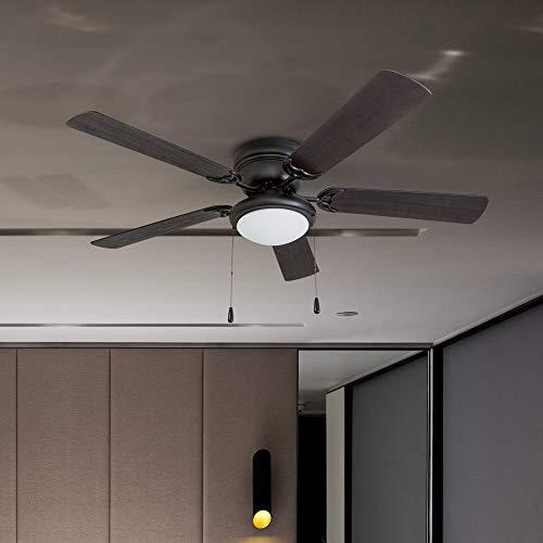 Portage Bay Matte Black West Hill Ceiling Fan