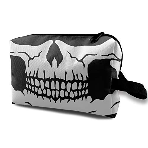 Skull Mouth Cosmetic Bag Toiletries Bags Makeup Pouch Zipper Pen Pencil Power Lines Storage Travel Cases Of Resistance Carry Handle -