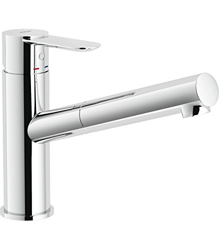 Nobili rubinetterie SA99117CR Miscelatore Lavello Cucina, Cromo ...