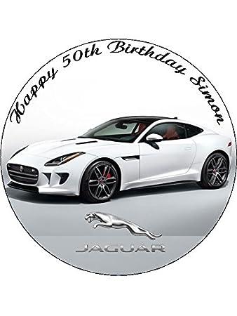 7 5 Jaguar Car Edible Icing Cake Topper Amazon Co Uk Toys Games