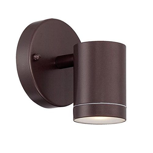 Acclaim 1401ABZ LED Wall Sconces Collection 1-Light Wall Mount Outdoor Light Fixture, Architectural Bronze by Acclaim