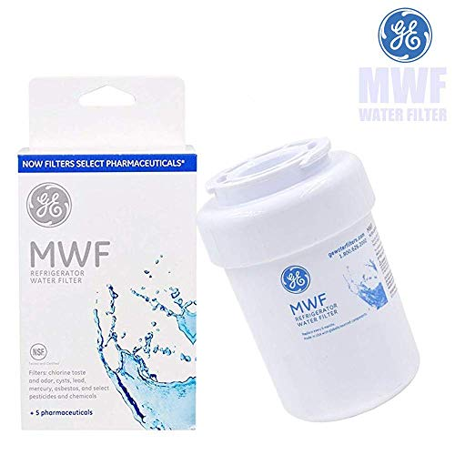 GE Water Filters for Refrigerators, GE MWF Smart Refrigerator Genuine Water Filter Cartridge, Replacement for GE SmartWater MWFP, MWFA, GWF, HDX FMG-1, WFC1201, GSE25GSHECSS, 1-Pack (white, 1)